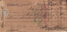 E5250 CUBA SPAIN ESPAÑA. 1863 EXCHANGE BANK CHECK MORA ALFONSO US. - Cheques & Traveler's Cheques