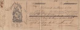 E5251 CUBA SPAIN ESPAÑA. 1880 EXCHANGE BANK CHECK MARZAN HERMANOS. - Cheques & Traveler's Cheques