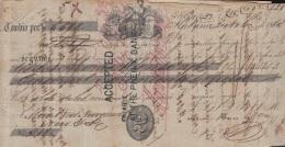 E5252 CUBA SPAIN ESPAÑA. 1860 EXCHANGE BANK CHECK HABANA. - Cheques & Traveler's Cheques