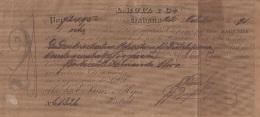 E5253 CUBA SPAIN ESPAÑA. 1891 EXCHANGE BANK CHECK L RUIZ Y Ca. - Cheques & Traveler's Cheques