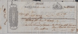 E5254 CUBA SPAIN ESPAÑA. 1866 EXCHANGE BANK CHECK JUAN DE LA CAMARA Y Ca. - Cheques & Traveler's Cheques