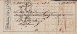 E5255 CUBA SPAIN ESPAÑA. 1860 EXCHANGE BANK CHECK NORIEGA OLMO Y Ca. - Cheques & Traveler's Cheques