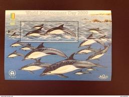 Jersey 2000 Dolphins Overprint Expo Minisheet MNH