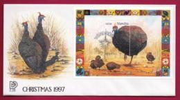 NAMIBIA, 1997, First Day Cover, Christmas, Min Sheet,Michel 2-28, F3901