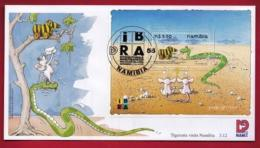 NAMIBIA, 1999, First Day Cover, Min Sheet, Tigerente, Michel 3-12, F3918