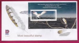 NAMIBIA, 1999, First Day Cover, Min Sheet, Barn Owl, Michel 3-16a, F3924