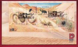 NAMIBIA, 2000, First Day Cover, Min Sheet, Namibian Dunes, Michel 3-24, F3931