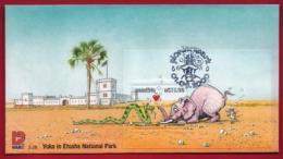 NAMIBIA, 2000, First Day Cover, Min Sheet, Yoka, Elephant,  Michel 3-28, F3935