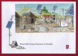 NAMIBIA, 2001 First Day Cover, Min Sheet, Energy Resources,  Michel 3-31, F3943