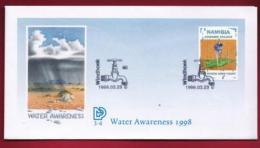 NAMIBIA, 1998, First Day Cover, Stamps, Water Awareness,  Michel 3-04, F3908