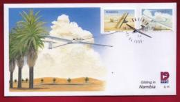 NAMIBIA, 1999, First Day Cover, Stamps, Gliding In Namibia,  Michel 3-11, F3917