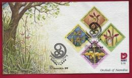 NAMIBIA, 1999, First Day Cover, Stamps, Orchids Of Namibia,  Michel 3-16, F3923