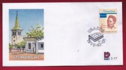 NAMIBIA, 1999, First Day Cover, Stamps, Johanna Gertze,  Michel 3-17, F3925