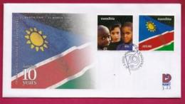 NAMIBIA, 2000, First Day Cover, Stamps, Independence,  Michel 3-22, F3930