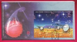 NAMIBIA, 2000, First Day Cover, Min Sheet Stamps, Telescope In Namibia,  Michel 3-26, F3933