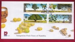 NAMIBIA, 2000, First Day Cover,  Stamps,  Fruit Trees,  Michel 3-27, F3934