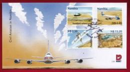 NAMIBIA, 2001, First Day Cover,  Stamps, Civil Animation,  Michel 3-30, F3937