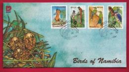 NAMIBIA, 2002, First Day Cover,  Stamps, Birds Of Namibia,  Michel 3-33, F3938
