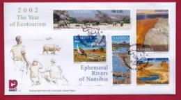 NAMIBIA, 2002, First Day Cover,  Stamps, Rivers Of Namibia,  Michel 3-34, F3939