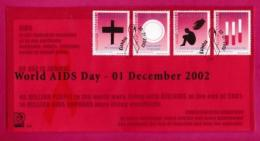 NAMIBIA, 2002, First Day Cover,  Stamps, Health Care (Aids),  Michel 3-35, F3941