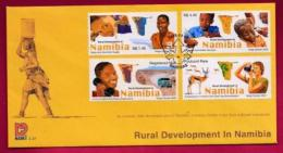 NAMIBIA, 2003, First Day Cover,  Stamps, Rural Development In Namibia,  Michel 3-37, F3942