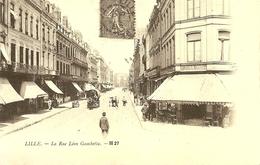 59. CPM. Nord. Lille. En 1900 .. La Rue Léon Gambetta (animée, Boutique, Repro) - Lille