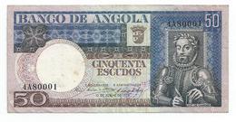 Bank Of Angola (colonial Period) 50 Escudos - Effigy Luís De Camões - 1973 Banknote Billet De Banque Billete De Banco - Angola