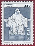 1980 - St Benedict Of Nursia -  Yt:IT 1416 - MNH - 6. 1946-.. Repubblica