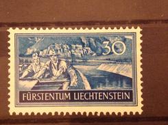 Liechtenstein 1937 Workers Issue 30R Canal Junction Mint SG 158 Mi 154 Sc 134