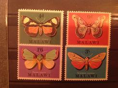 Malawi 1970 Moths Mint SG 358-61