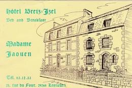 Carte Commerciale Hôtel Breiz Izel / Mme JAOUEN / 29 Lesneven Finistère - Cartes
