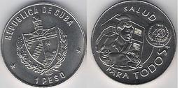 Cuba 1 Peso 1988 Health For Everyone Salud Para Todos UNC - Cuba