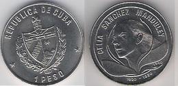 Cuba 1 Peso 1990 Celia Sanchez Manduley 70 Years Birth UNC - Cuba