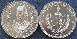 Cuba 1 Peso 1990 Elisabeth 1492 1992 V Centennary 500 Years Discovery UNC - Cuba