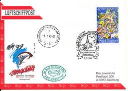 Austria Cover 22. Luftschiffpost Der Pro Juventute 3-7-1999 - 1991-00 Storia Postale