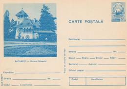 ROMANIA-POSTCARD-BUCAREST MUSEUM MINOVICI(REDD-CROSS)