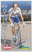 CARTE CYCLISMEMARCO PANTANI SIGNEE TEAM CARRERA TASSONI 1995 FORMAT 12 X 20