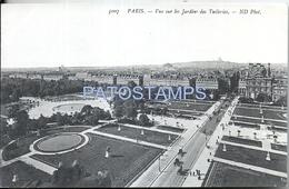 66401 FRANCE PARIS VIEW GARDENS OF TUILERIES & PUBICITY NEO LAXATIVO CHAPOTOT POSTAL POSTCARD - Francia