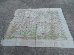 1914 1918 Carte D'état Major Anglaise War Office Anglais Saint Quentin - 1914-18