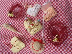 Lot De 8 Supports De Dragees Au Crochets Pour Mariage Bapteme Etc... Pour Modele - Non Classés