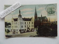 Gleiwitz, Kathol. Vereinshaus, Gesellenhospiz, Peter-Paul-Kirche, Gel. 1911 - Schlesien