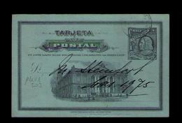 Postal Stationery PRIVÉ ! Bank Note American  Co NEW YORK Money Monnaies Diligences Horses Chevaux CHILE 1908 Sp4351