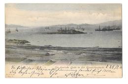 (12905-00) Die Deutsche Flotte In Der Kiautschaubucht - Bateau De Guerre - Warships