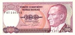 TURQUIE 100 TURK LIRASI L.1970 (1984) P-194b NEUF SIGN. CANEVI & YILDIRIM. [TR270c] - Turkey