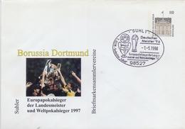 DEUTSCHLAND :1998: (Not) Travelled Postal Stationery: FOOTBALL,BORUSSIA DORTMUND,UEFA-Cup,
