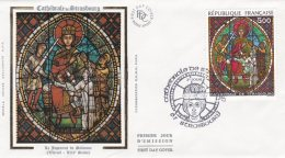 L4R068 FRANCE 1985 FDC Cathédrale De Strasbourg 5,00 Strasbourg 13 04 1985 /envel.  Illus.