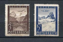 AUSTRIA 1947) -Posta Aerea - UNIF. N. A50-A52  MLH