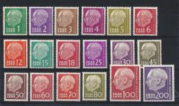 Germania Sarre 07 -1957 -Presidente HEUSSE- Serie 18 Val MNH** - Zona Francese