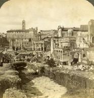 Italie Rome Forum Romain Capitole Et Voie Sacree Via Sacra Ancienne Photo Stereo Underwood 1900 - Photos Stéréoscopiques