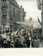 Allemagne Leipzig Foire De Printemps Centre Ville Animée Petershof Ancienne Photo 1964 - Places